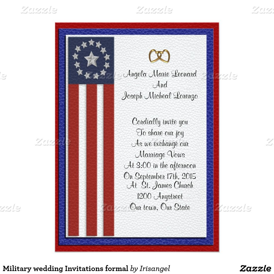 Military Wedding Invitations Formal Zazzle Military Wedding pertaining to sizing 1104 X 1104