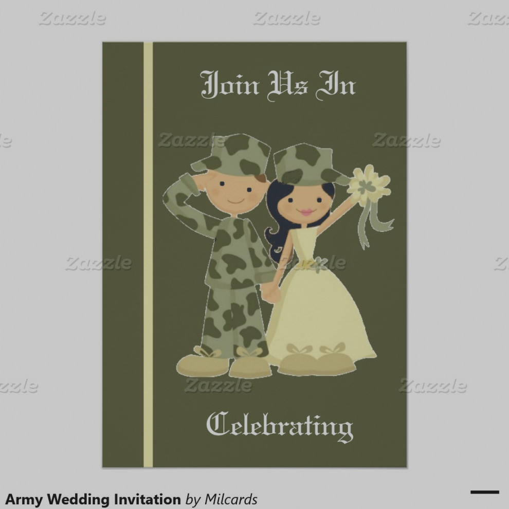 Military Wedding Invitations Templates Invitation Template Ideas with proportions 990 X 990