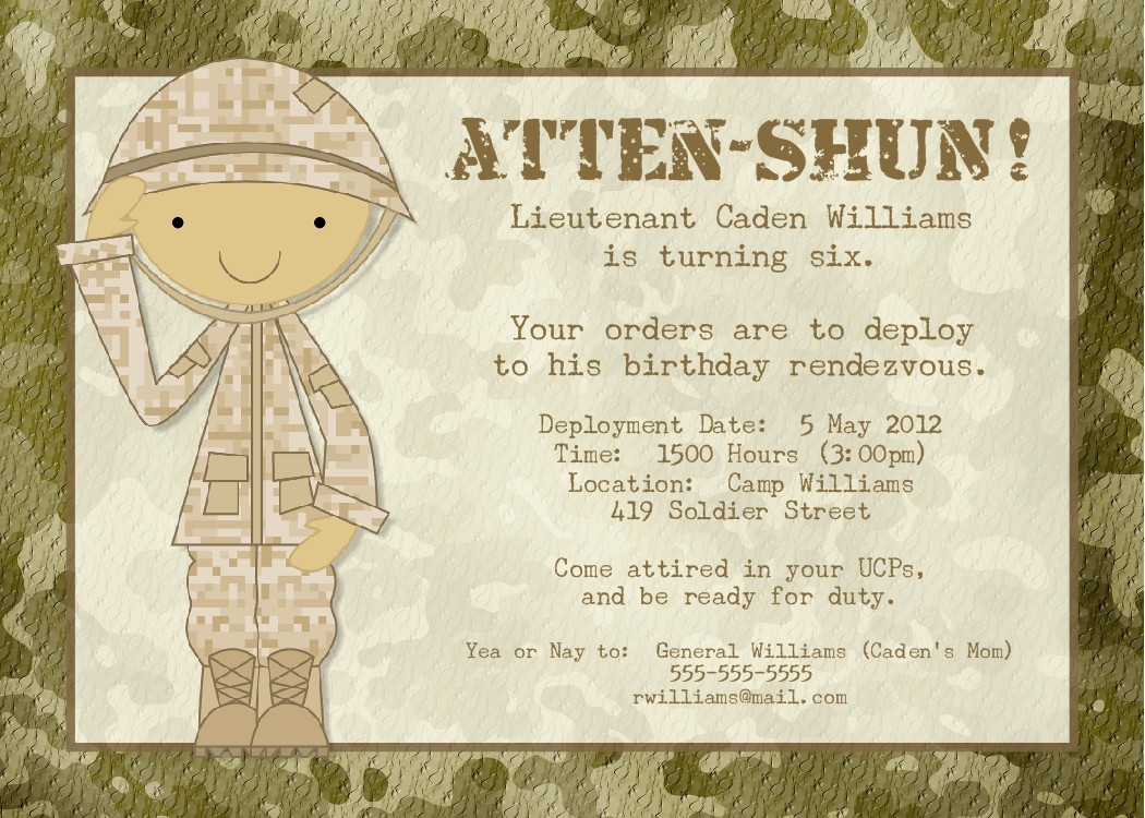 Military Wedding Invitations Templates throughout sizing 1050 X 750