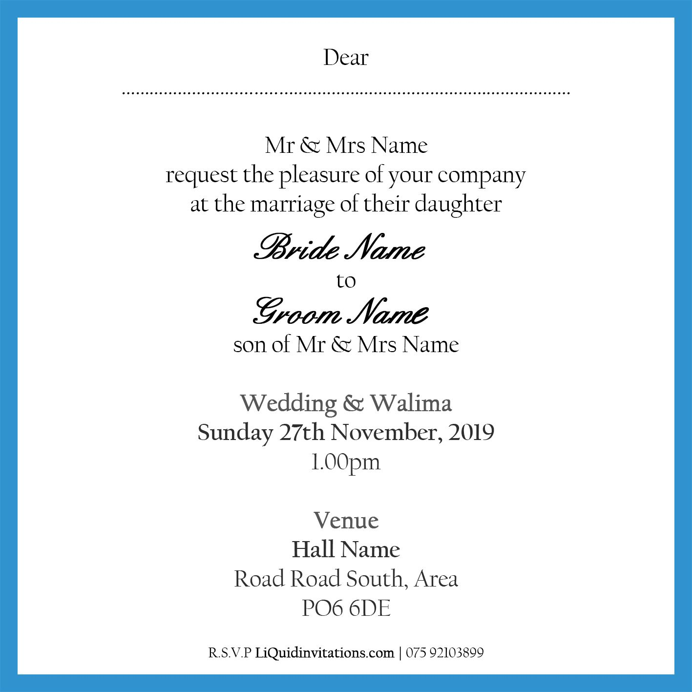 Muslim Wedding Invitations Muslim Wedding Invitation Wordings in measurements 1417 X 1417