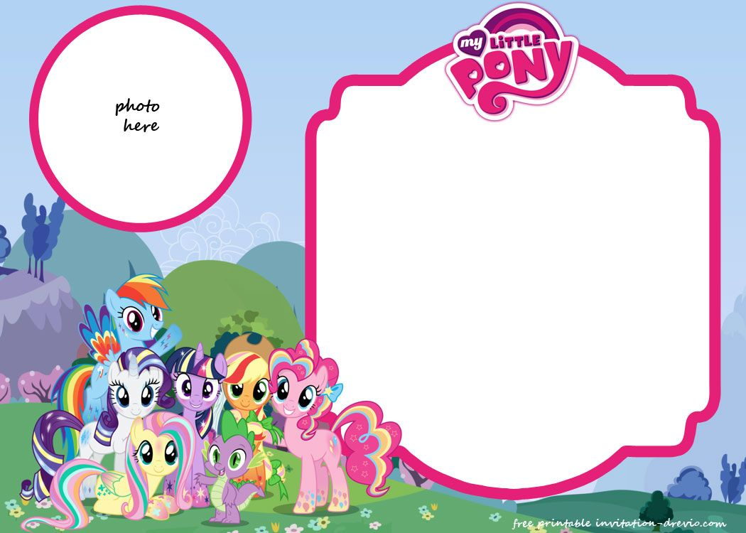 My Little Pony Birthday Invitation Template Equestria Free for proportions 1050 X 750
