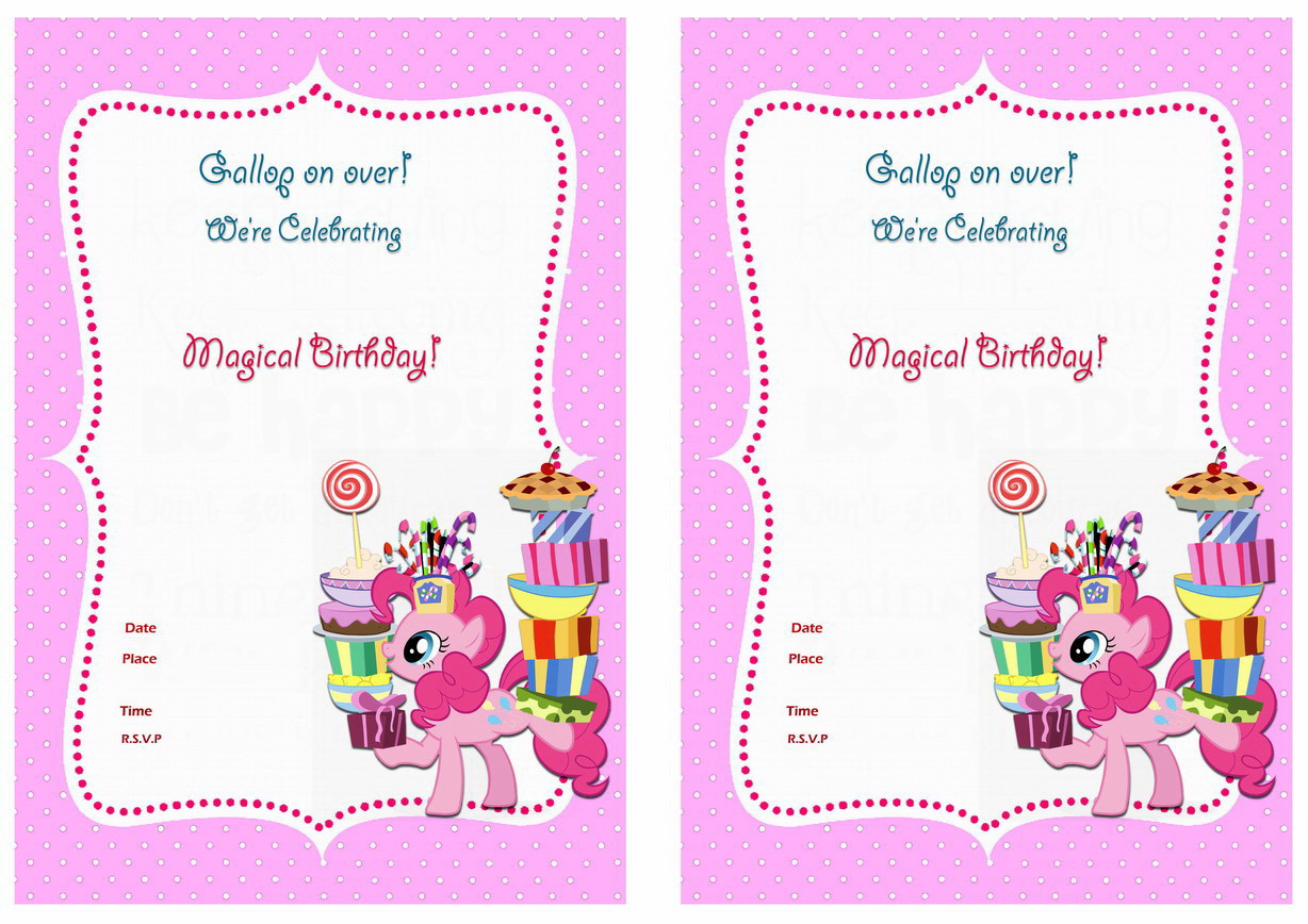My Little Pony Birthday Party Invitation Template Business