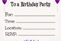 New Free Online Printable Birthday Party Invitations Holiday regarding sizing 1354 X 1600