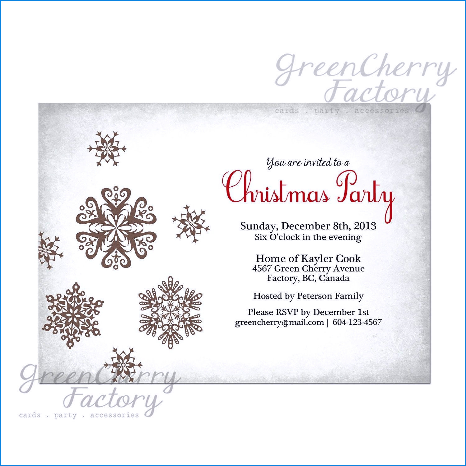 Company Christmas Invitations Templates \u2022 Business Template