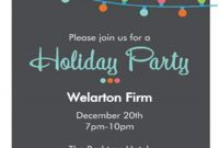 Order Form Christmas Party Invitations Christmas Party intended for proportions 750 X 1050