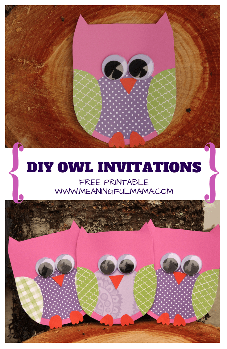Owl Invitations Template For Free with size 736 X 1128