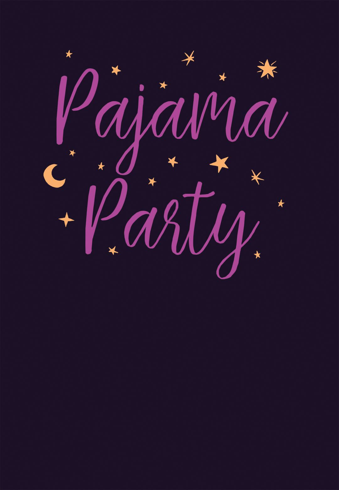 Pajama Party Free Sleepover Party Invitation Template Greetings regarding size 1080 X 1560