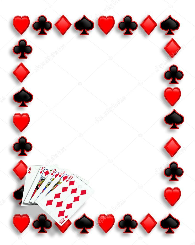 Playing Cards Suits Background Border Or Frame For Card Poker Game with dimensions 817 X 1024