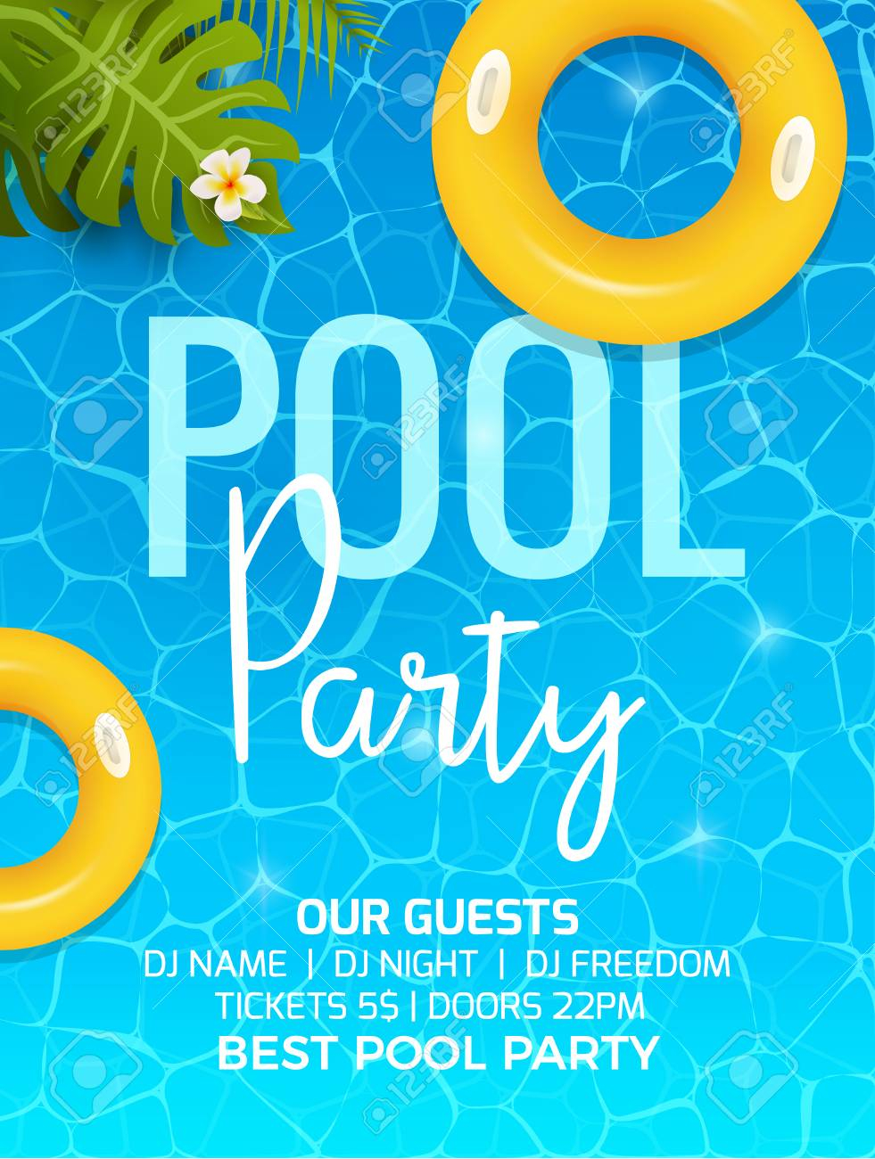 Pool Summer Party Invitation Template Invitation Pool Party inside dimensions 981 X 1300