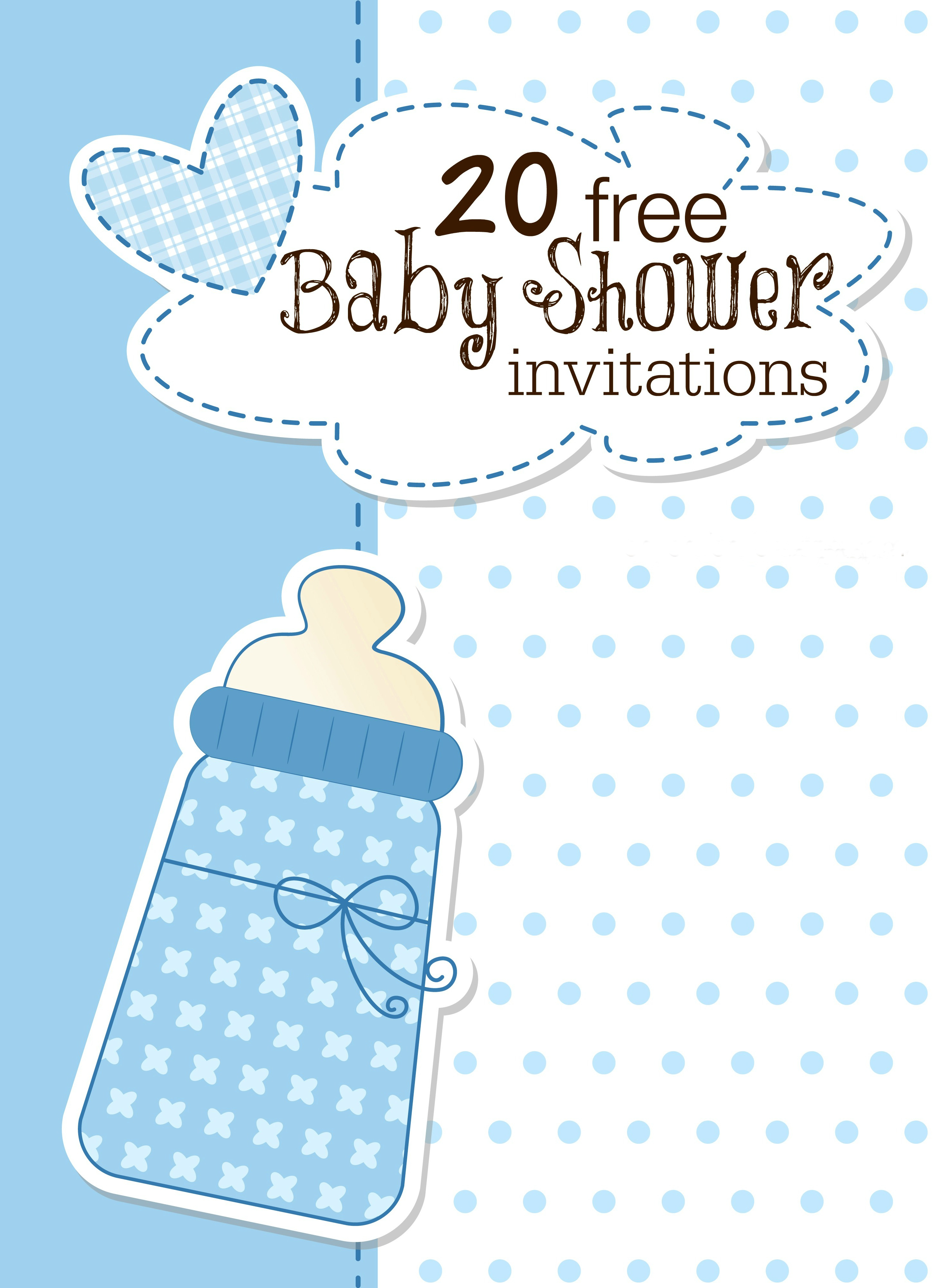 Printable Ba Shower Invitations within measurements 2908 X 4000