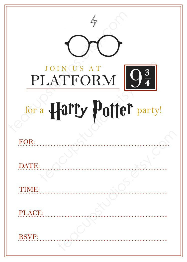 Printable Harry Potter Invitation Pdf My Inner Nerd Harry in proportions 750 X 1051