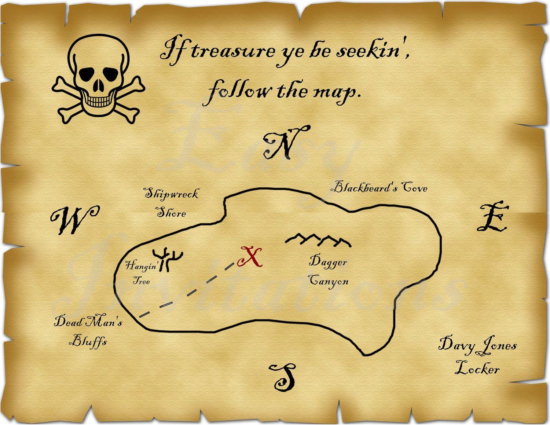 - Treasure Map Invitation Template • Business Template Ideas