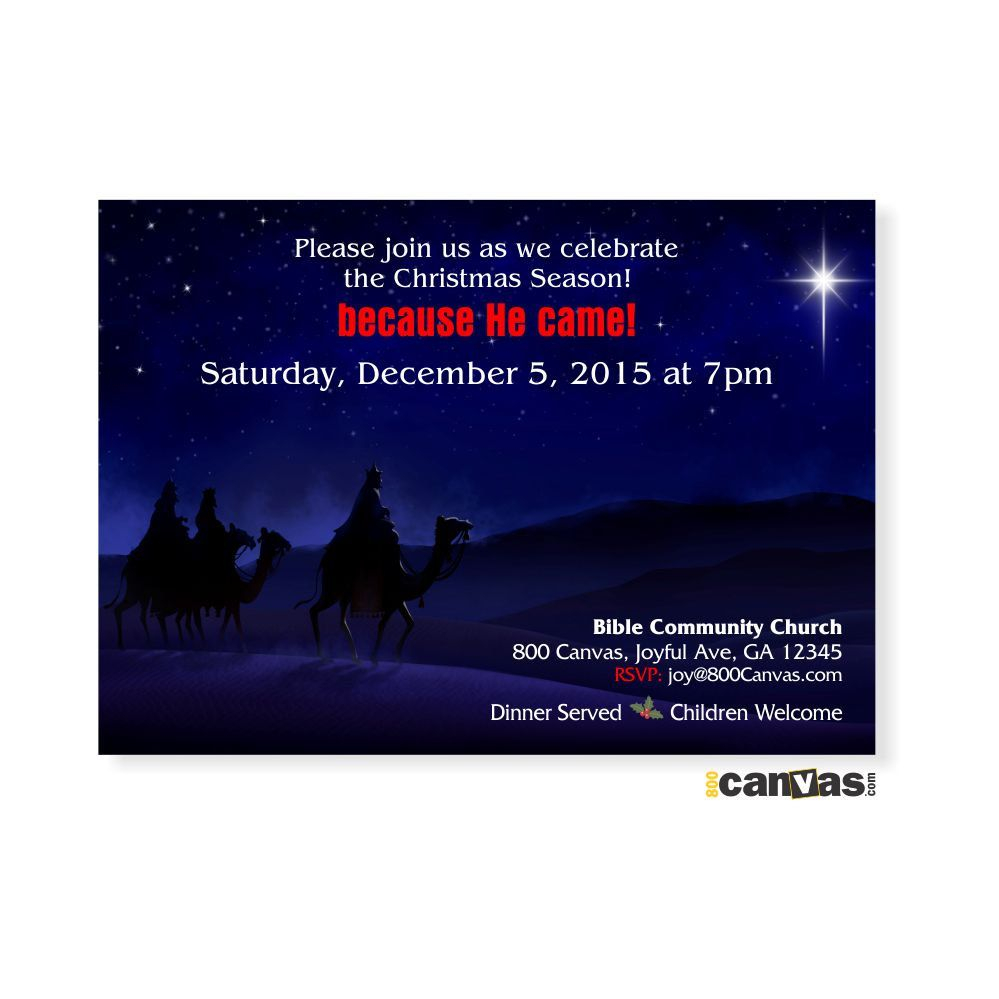 Religious Christmas Invitation Church Christmas Invites Christmas for sizing 999 X 999