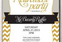 Retirement Party Invitation Template Microsoft Retirment Party regarding proportions 1071 X 1500
