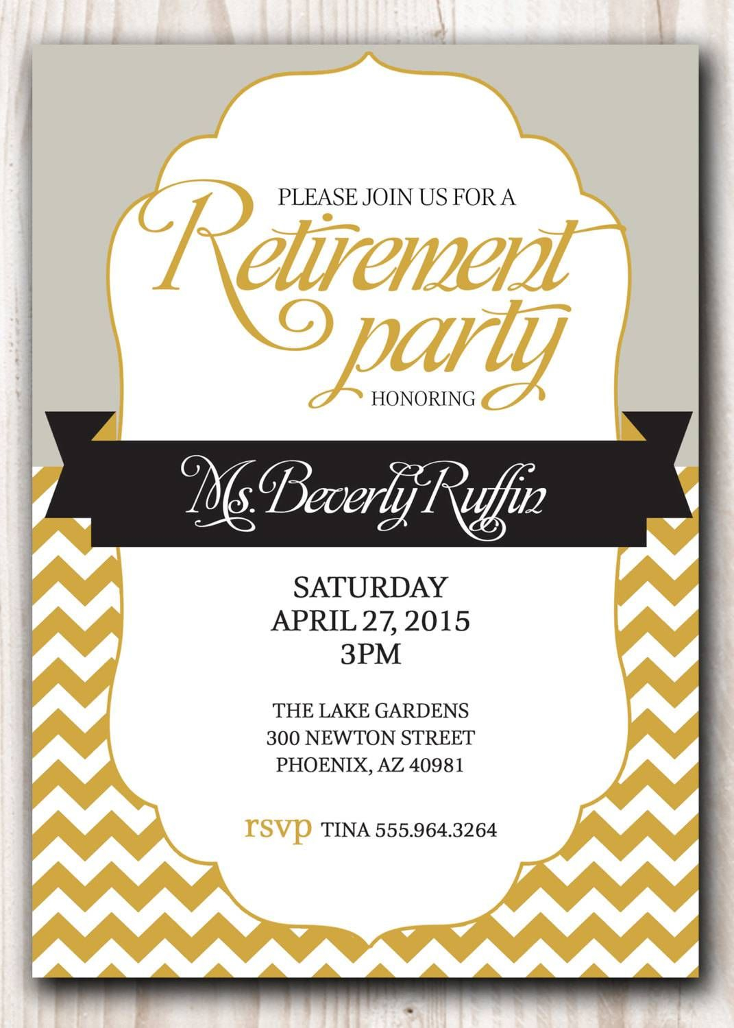 Retirement Party Invitation Template Microsoft Retirment Party regarding proportions 1071 X 1500