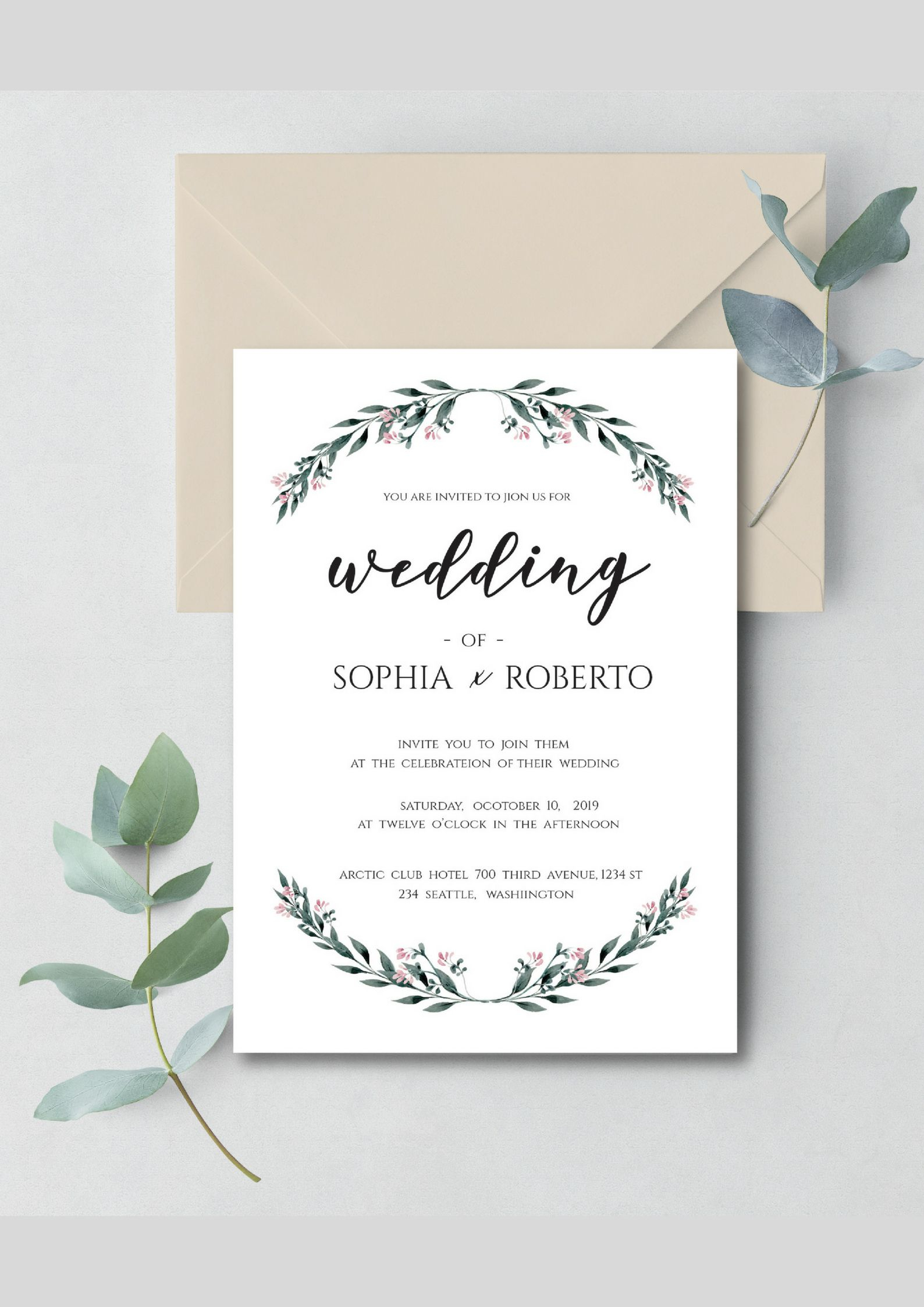 Rustic Wedding Invitation Template Download P Print Please within proportions 1588 X 2246