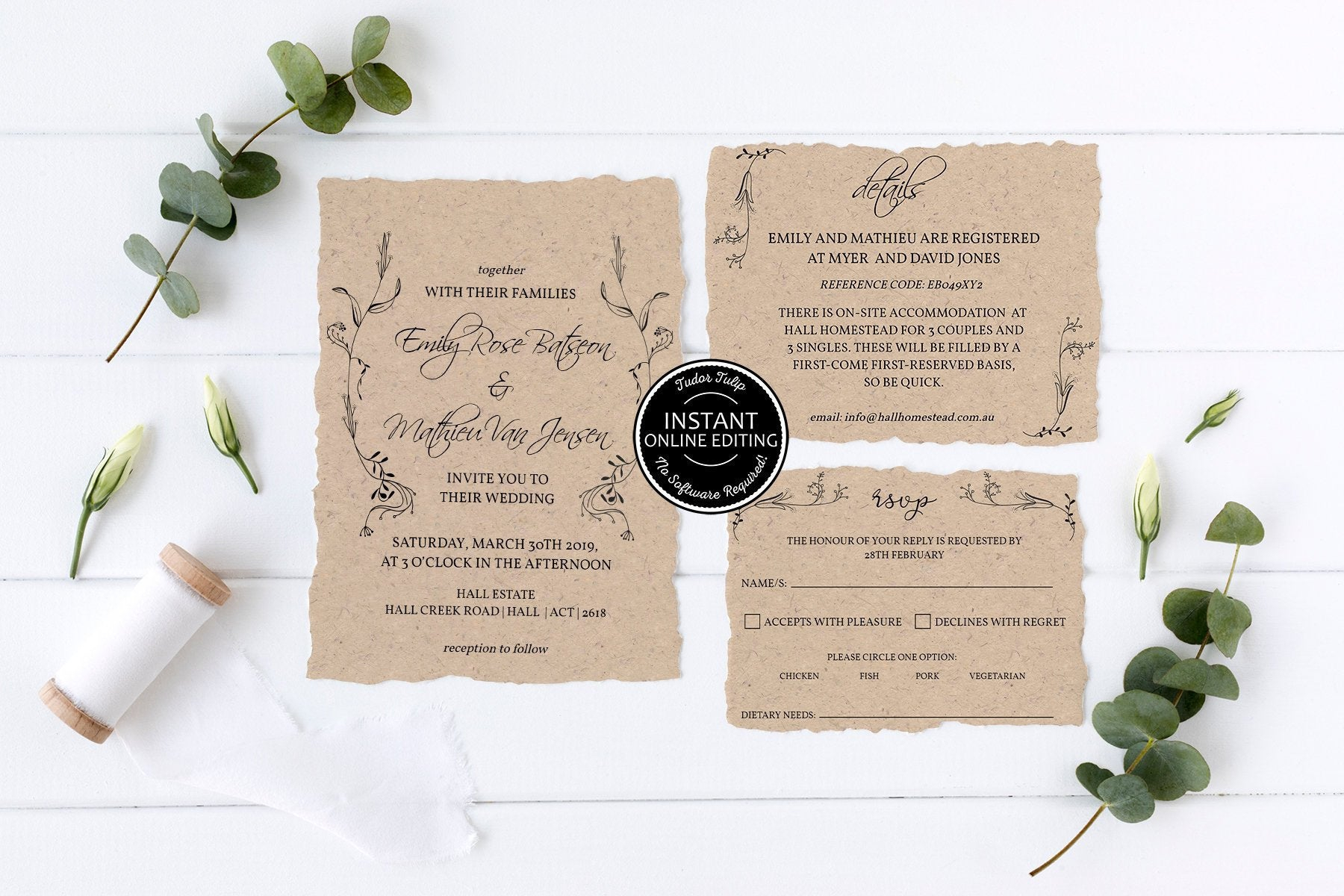 Rustic Wedding Invitation Template Once Upon A Time Printable Etsy pertaining to size 1800 X 1200