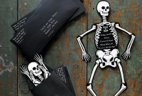 Skeleton Invitations Halloween Crafts Halloween Party inside proportions 1500 X 1500