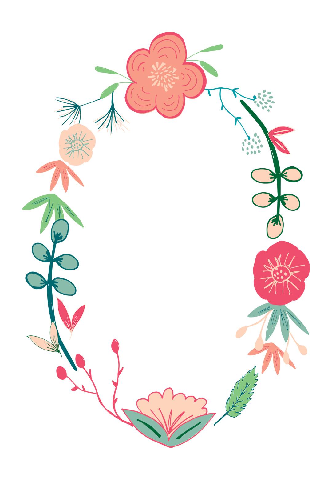 Spring Flowers Free Printable Birthday Invitation Template pertaining to measurements 1080 X 1560