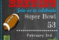 Super Bowl Party Invitations 2019 Football with regard to size 750 X 1050