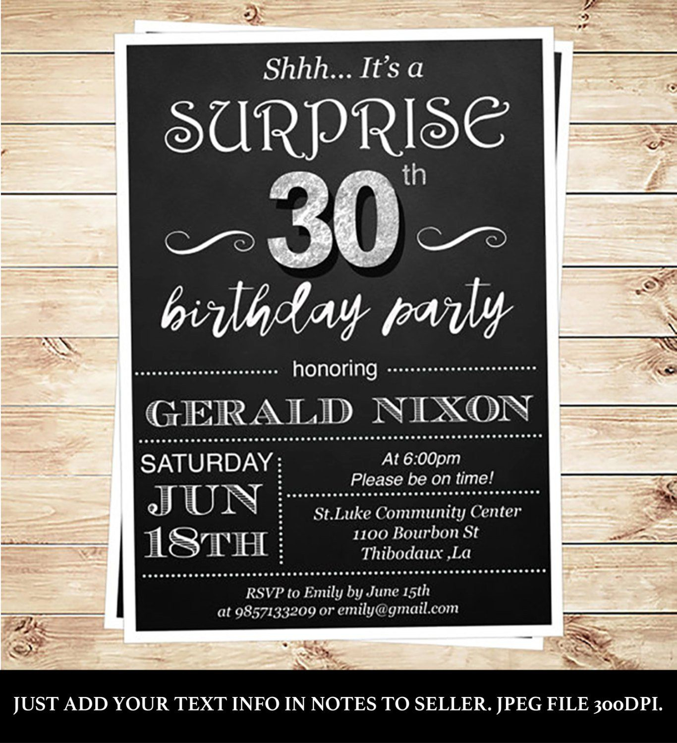 Surprise Party Invitation Template Download Invitation Templates in dimensions 1366 X 1500