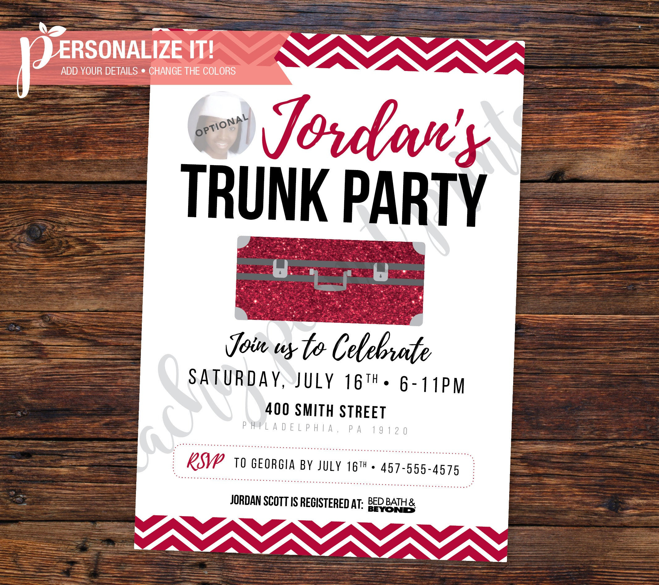 Trunk Party Invitation Going Away College High School Etsy with regard to size 2133 X 1896