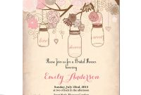 Vintage Bridal Shower Invitation Templates Free Projects To Try in dimensions 1000 X 1000