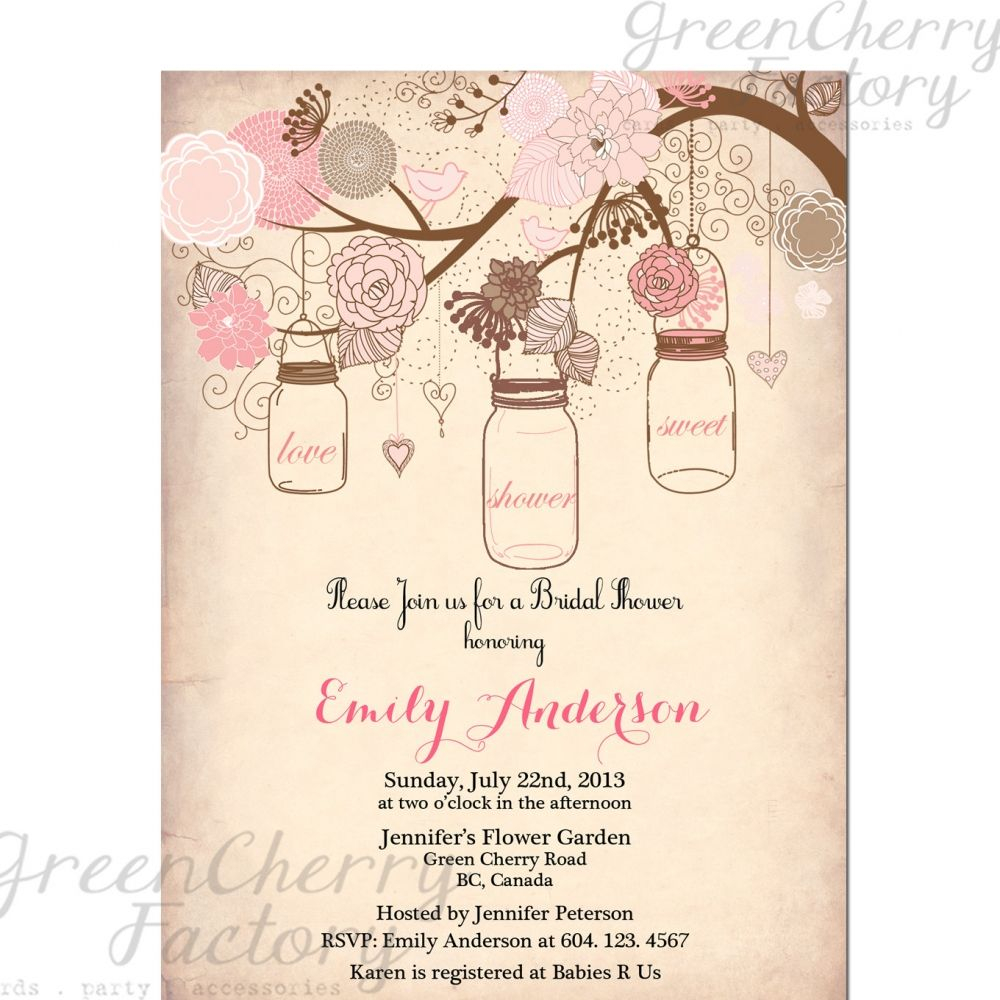 Vintage Bridal Shower Invitation Templates Free Projects To Try with dimensions 1000 X 1000