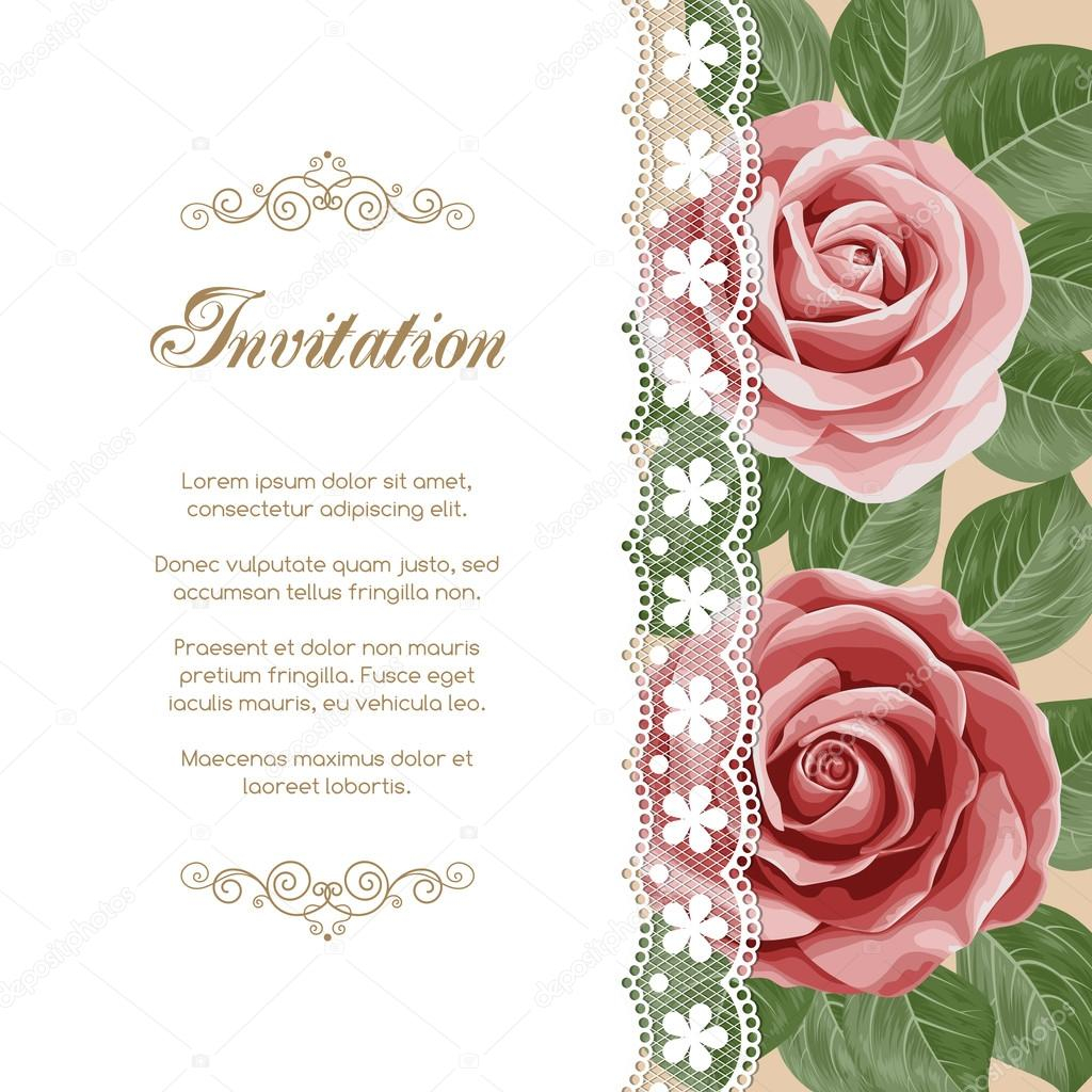 Vintage Floral Invitation Template Stock Vector Nonikastar for sizing 1024 X 1024