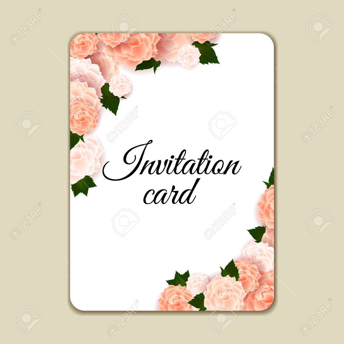 Vintage Floral Invitation Template With Hand Drawn Flowers And with dimensions 1300 X 1300