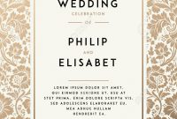 Vintage Wedding Invitation Template Modern Design Wedding for dimensions 1011 X 1300