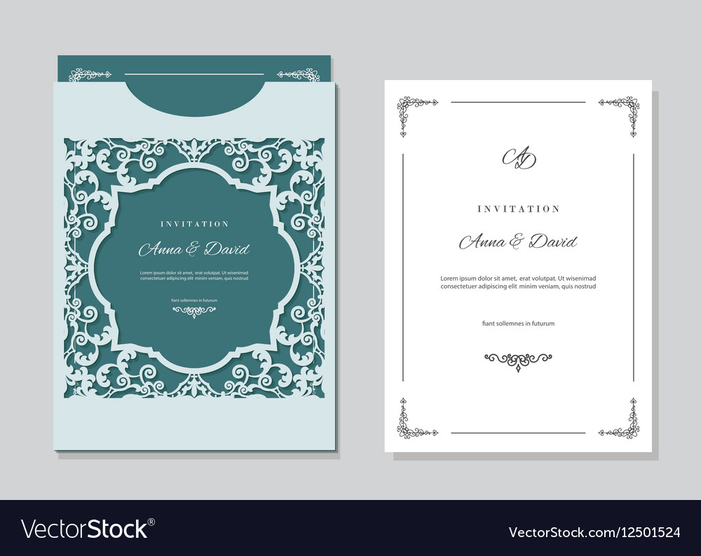 Wedding Invitation Card And Envelope Template With inside measurements 1000 X 794