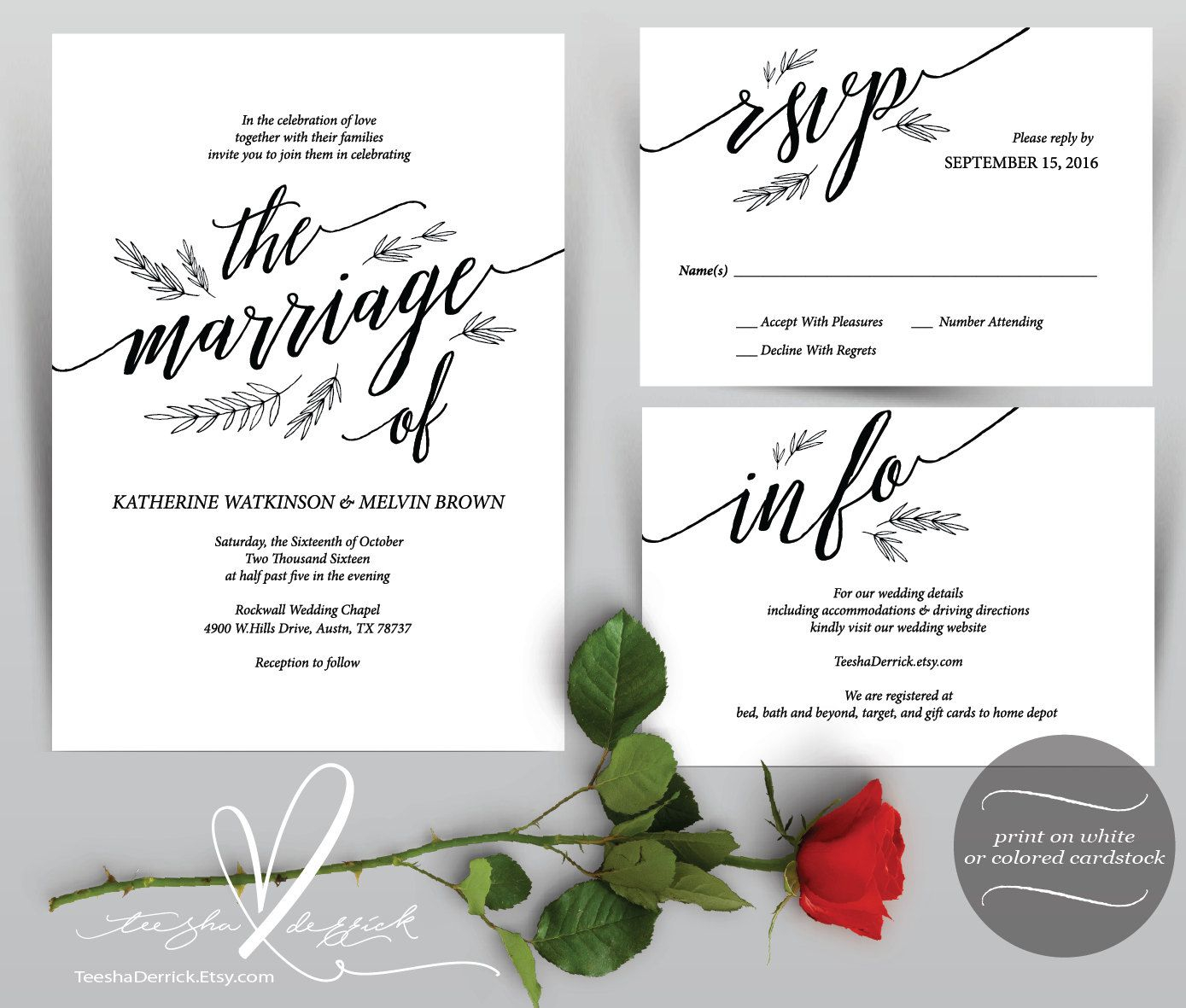 Wedding Invitation Cards Instant Download Printable Pdf Template inside sizing 1389 X 1181