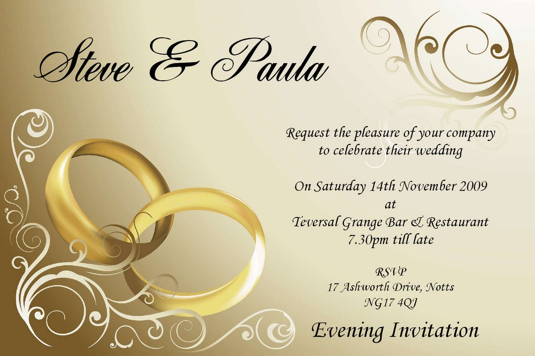 Wedding Invitation Email Template Wedding Invitation Collection intended for dimensions 1092 X 727