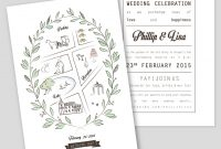 Wedding Invitation Template With Map Royalty Free Vector for size 947 X 1080