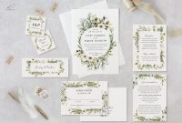 Wildflower Wedding Invitation Template Set Printable Rustic Etsy within size 3000 X 2097