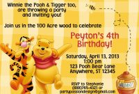 Winnie The Pooh Birthday Party Invitation Template Winnie The Pooh with regard to proportions 1500 X 1071