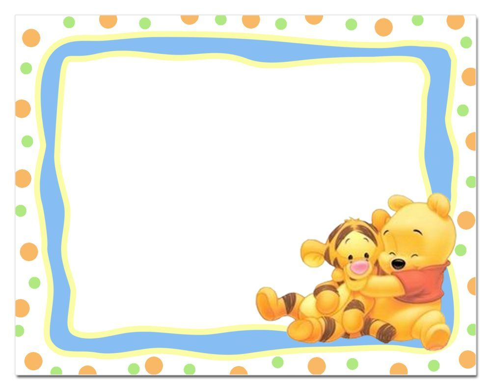 Winnie The Pooh Printable Invitation Template Bashower Free within proportions 1000 X 795