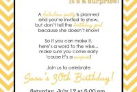 Wording For Surprise Birthday Party Free Printable Birthday with regard to dimensions 1143 X 1600