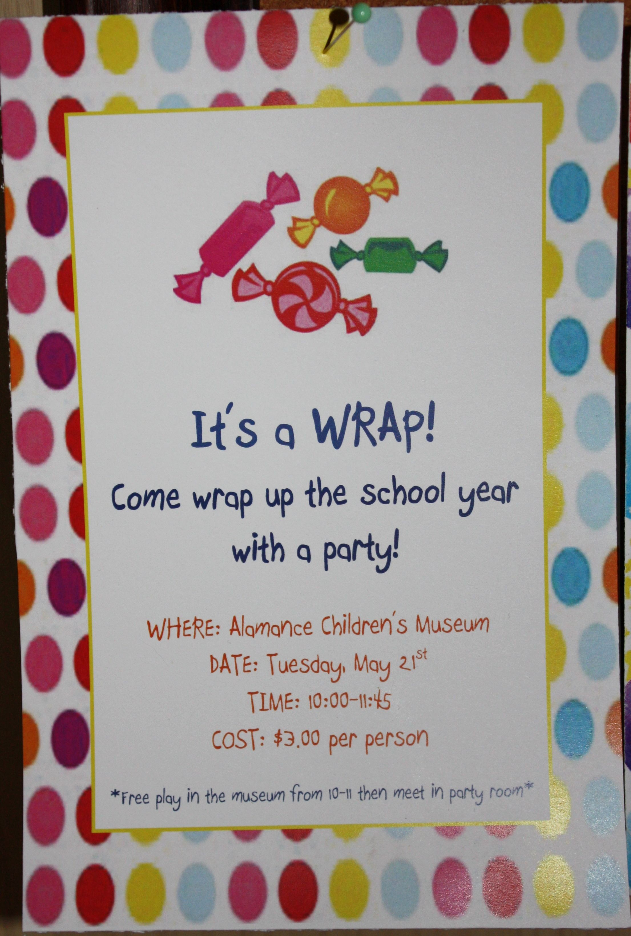 End Of School Party Invitation Templates • Business ...